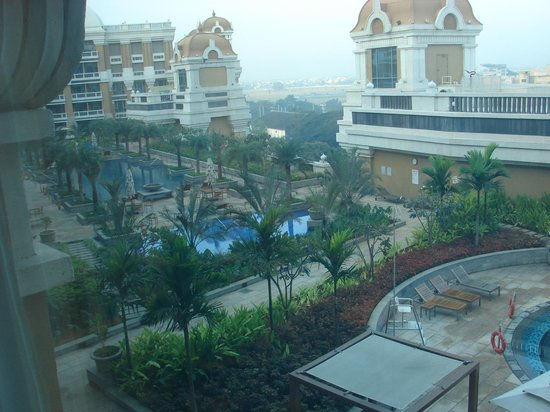 Outside view picture of itc grand chola chennai Itc grand chola chennai swimming pool