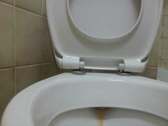 Hotel Herzog Wilhelm: schmutziger Toilettendeckel
