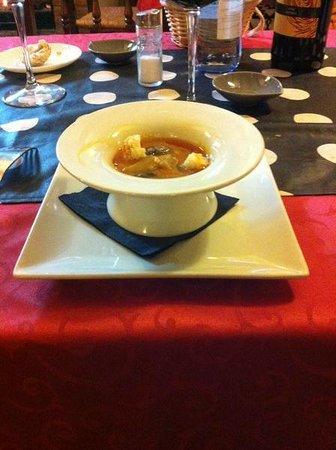 Restaurante Casa de las Piedras : sopa con huevo