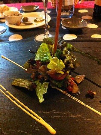 Restaurante Casa de las Piedras : ensalada con castañas...