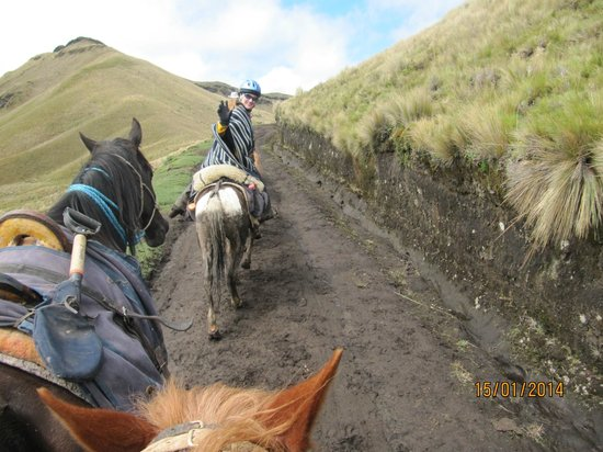Hacienda La Alegria: Riding to the Volcan Ruminahui, Pichincha, Ecuador