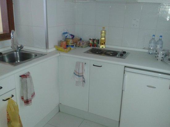 Apartamentos Luxmar: Basic kitchen, but ok.