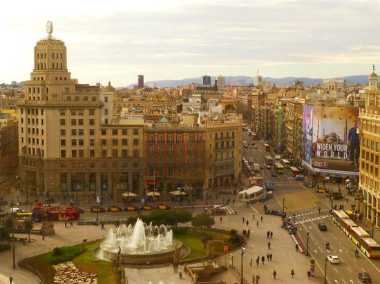 Plaza de catalunya from restaurant picture of el corte - El corte ingles plaza cataluna barcelona ...