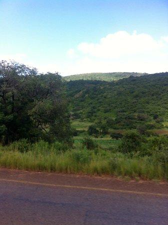 Hlane Royal National Park: visão das montanhas da Suazilândia