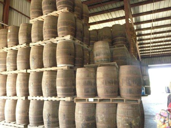 Cruzan Rum Distillery: Barrels of rum