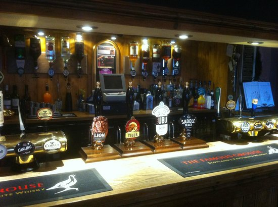 Armouries Arms: good selection of ales for you to choose from