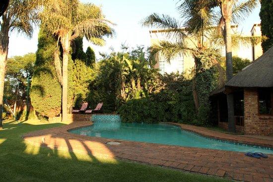 Aero Guest Lodge: Терраса и бассейн