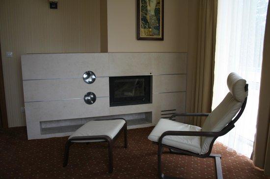 Hotel Saint George: suite-fireplace