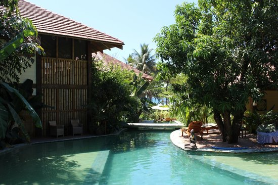 Pranamar Villas and Yoga Retreat: Pool with ocean in the background