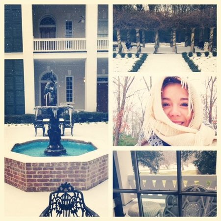 Monmouth Historic Inn Natchez: Collage of snowy grounds