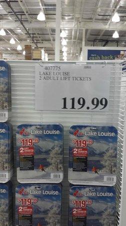 Banff Ulusal Parkı, Kanada: Cheaper tickets at Costco's Calgary