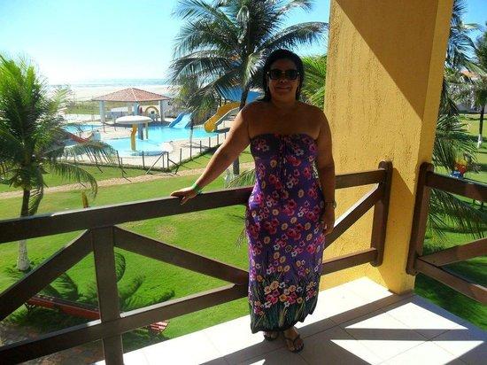 Jangadeiro Praia Hotel: Vista da varanda dos quartos...