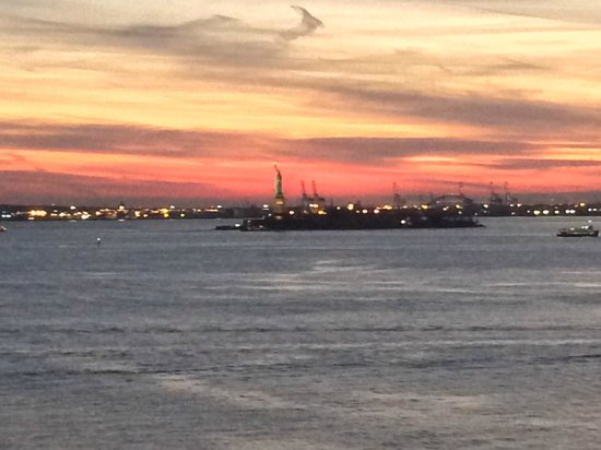 The Wagner at the Battery: View from our window of the Statue of Liberty