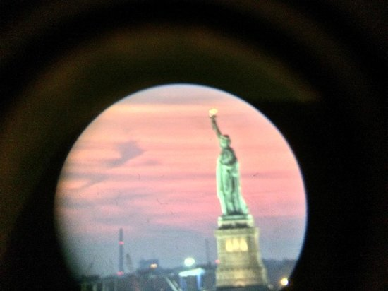 The Wagner at the Battery: Photo I took by holding my Iphone up to the viewer on the telescope