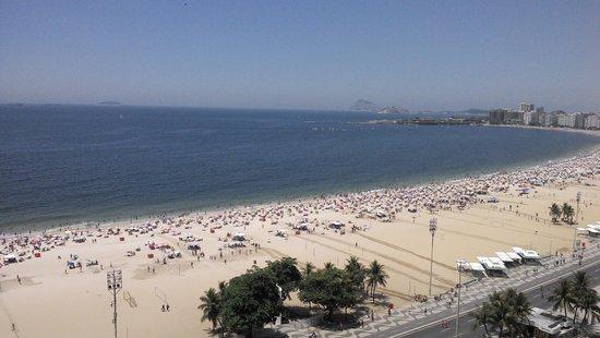 Arena Copacabana Hotel: Vista da suíte c/ vista lateral