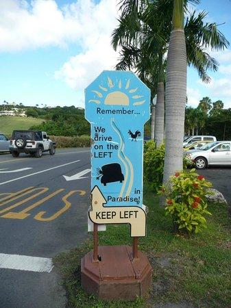 The Buccaneer -- St Croix : Drive left!