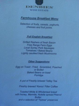 Denbies Farmhouse Accommodation: Guest information