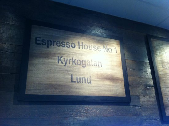 Espresso House : Upstairs sign