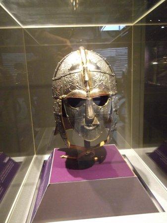 Sutton Hoo: Reconstruction Of Warrior's Helmet In Exhibition Hall