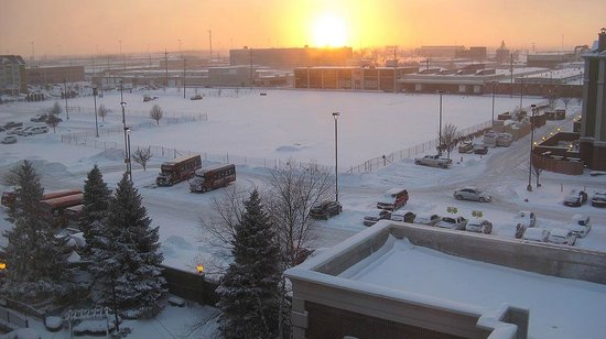 Chicago Marriott Midway: Sunset over the snow
