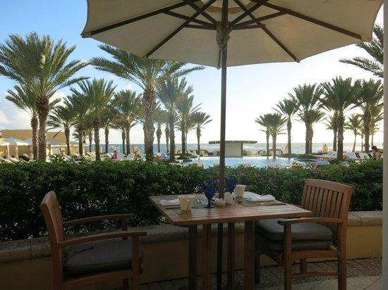 The Westin Dawn Beach Resort & Spa, St. Maarten: View at breakfast