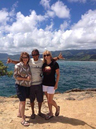 Oahu Spot Tours: Ron, our wonderful tour guide!