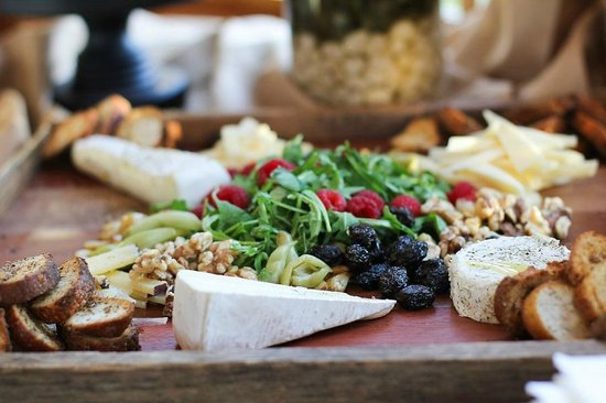 Bella Vista Bed & Breakfast Inc. : Cheese, nut, and salad spread at a catered event at the B&B