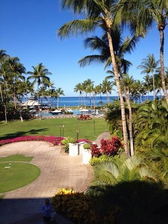 Fairmont Orchid, Hawaii: view from luana lounge