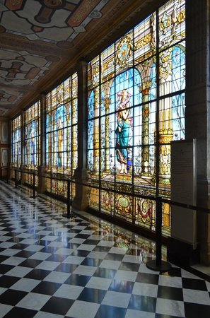 Château de Chapultepec : Beautiful wall of stained glass