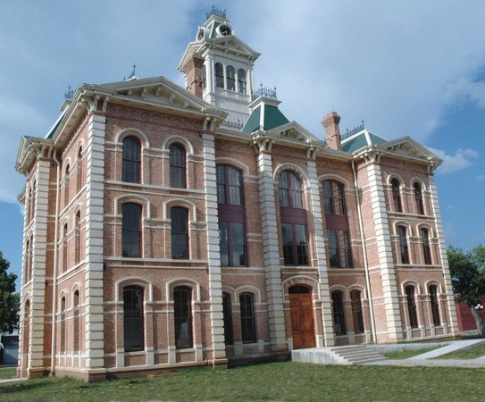 The Wharton Co. Courthouse is the most extensively restored in the state.