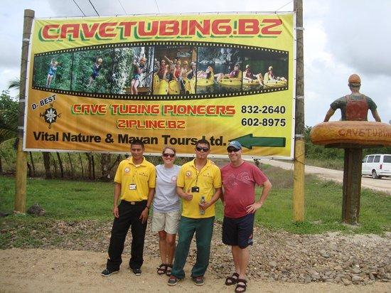 Cave Tubing with Vitalino Reyes: Alfredo, Terri(me), Jonathan, Todd