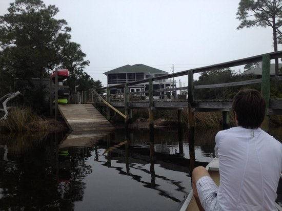 Cape San Blas Inn : Canoeing back to our wonderful B&B!
