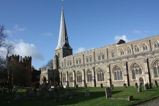 The Gables B&B Hadleigh: The Splendid Spire of St Marys Church Hadleigh