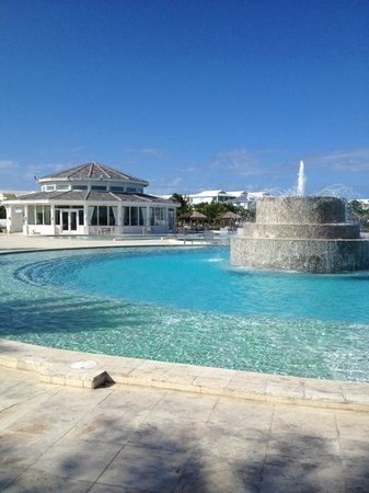 Resorts World Bimini: Pool Near the Marina & Sabor Restaurant in Backgound
