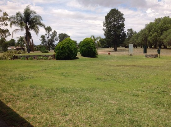 Berrigan Motel: View of golf course from room