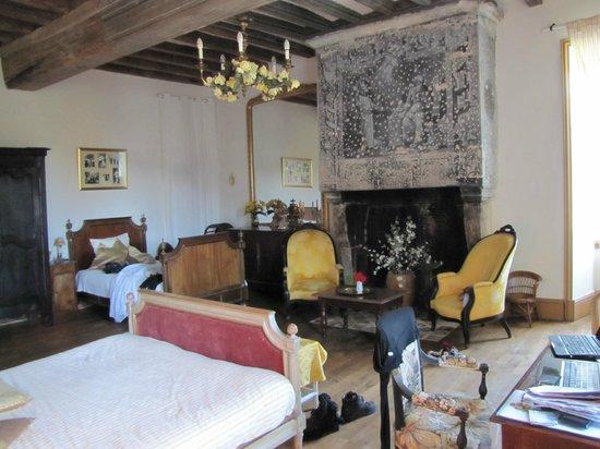 Château de Boiscoursier : The yellow room