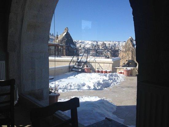 Arif Cave Hotel : vista do cafe da manha