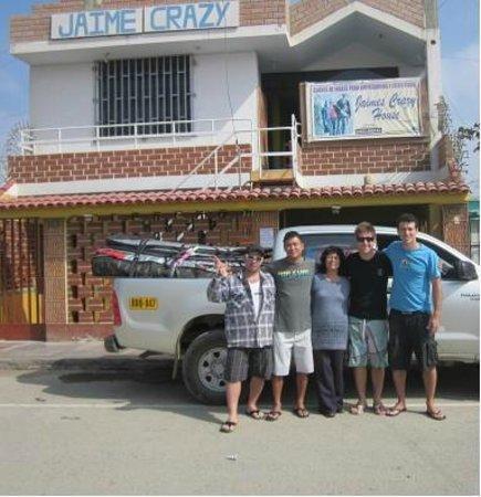 Jaime Crazy Hostel : entrada del hostal