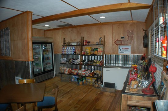 The Cafe at the Inn on the Gallatin: Our mercantile has groceries you might need  as well as our yummy homemade jam.