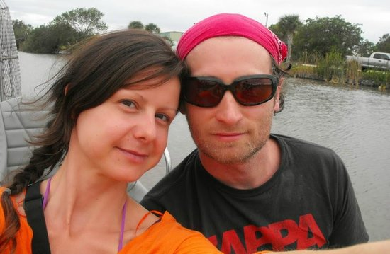 Wooten's Everglades Airboat Tour: This is us! Ivona and Darrin:)