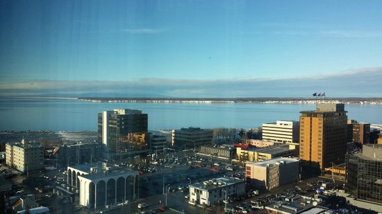 Anchorage Marriott Downtown: View from room on 19th floor.  Beautiful