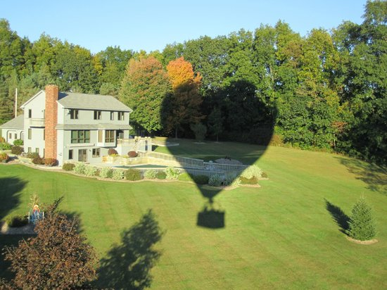 """Above Reality Inc. Hot Air Balloon Rides: I must provide a description - """"that's the balloon's shadow!"""""""