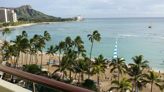 The Royal Hawaiian, a Luxury Collection Resort: view from 9th floor ocean view room