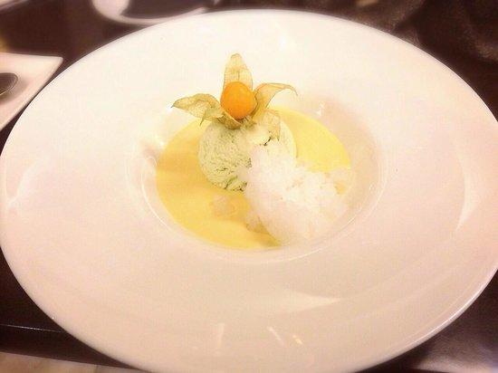 La Azotea Gran Poder: Crean de naranja & azahar con granizado de Ginebra y helado de hierbabuena