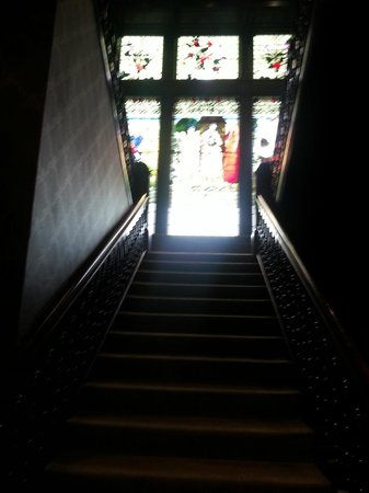 Hotel du Vin at One Devonshire Gardens: Stained glass window - Staircase