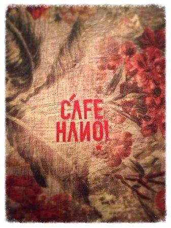 cafe Hanoi menu