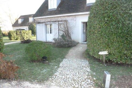 Domaine de Bellevue : ons huisje (rechts waar deur openstaat)