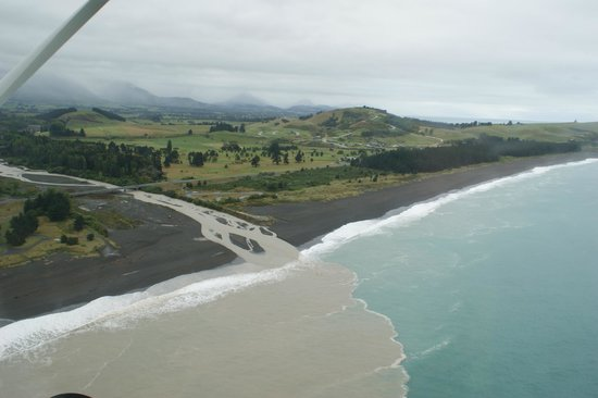 Wings Over Whales: View back towards the runway and coast