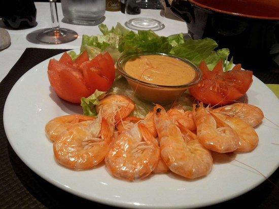 Mani in Pasta : Des  délicieuses  crevettes et surtout la sauce