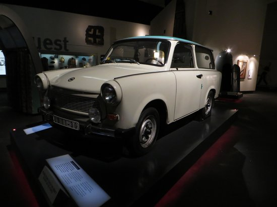 Imperial War Museum North: 1982 Trabant Deluxe Estate Care.....The Trabant was manufactured in Eastern Europe during the co